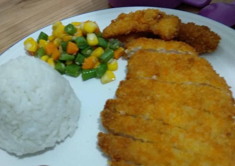 Cara Membuat Chicken Katsu / Ayam Katsu yang mudah