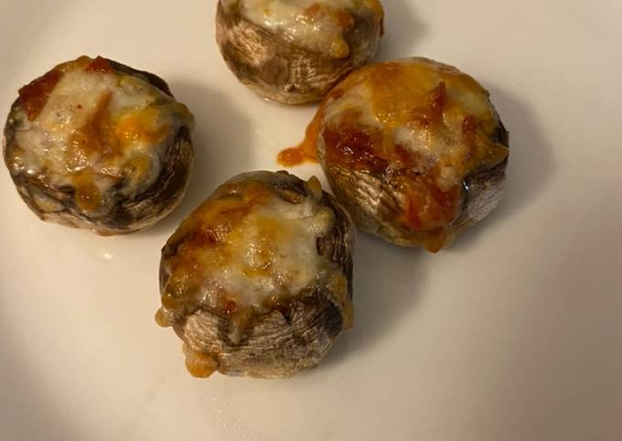 Stuffed pizza mushrooms