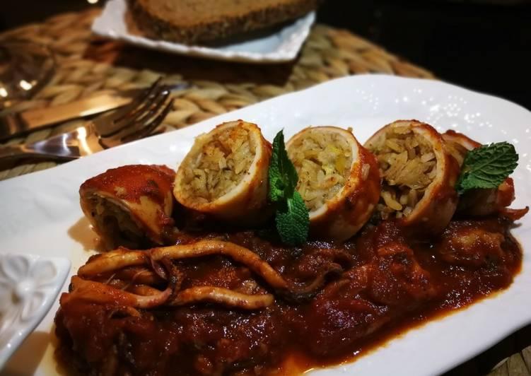 Calamars farcis & Salade d'Ebly #𝕡𝕝𝕒𝕥𝕤𝕕𝕖𝕩𝕔𝕖𝕡𝕥𝕚𝕠𝕟