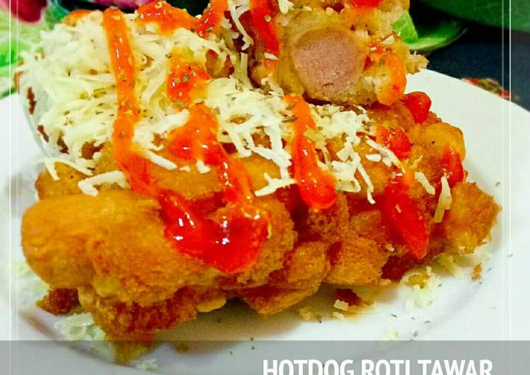 Hotdog roti tawar