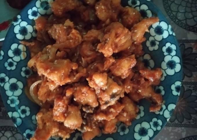Ayam goreng krispi ala Korea