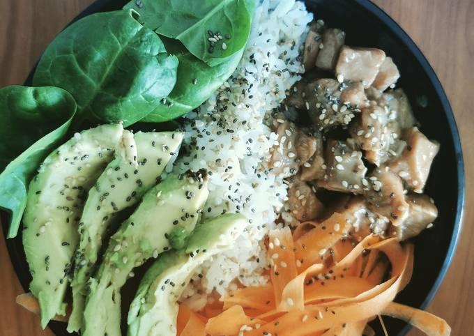 Poké bowl au saumon à ma facon #healthy #detox