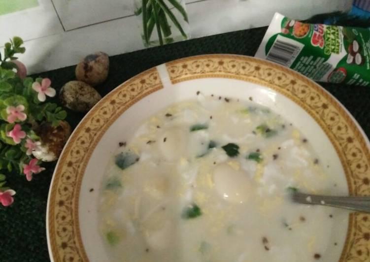 °Cream Soup Telur Puyuh°