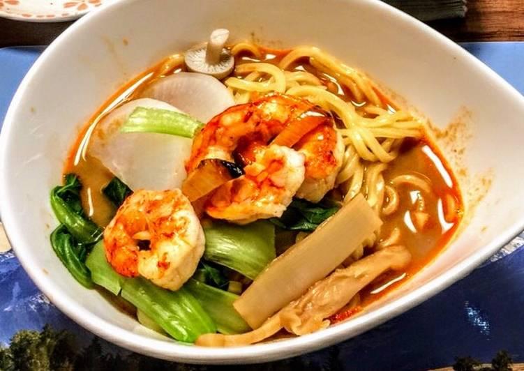 Recipe of Award-winning えびラーメン🦐、Shrimp Ramen