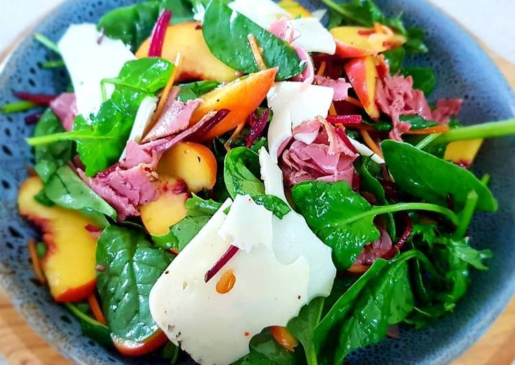 Easiest Way to Prepare Homemade Yellow Peach with Smoked Ham Salad