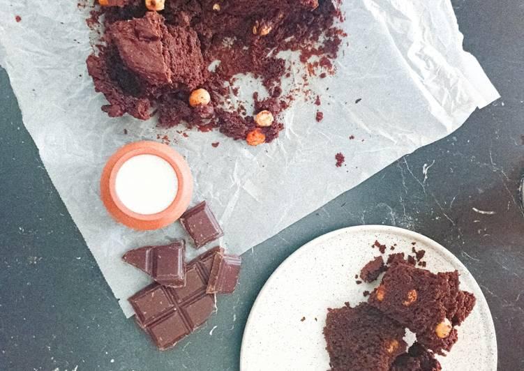 Brownie vegan sans gluten hyper fondant !