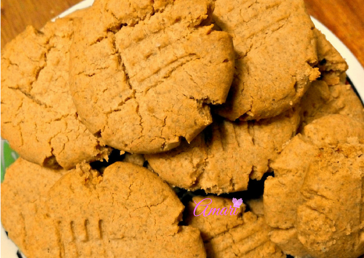 Recipe of Quick Delicious Home-made Peanut Butter Cookies      #cookiescontest