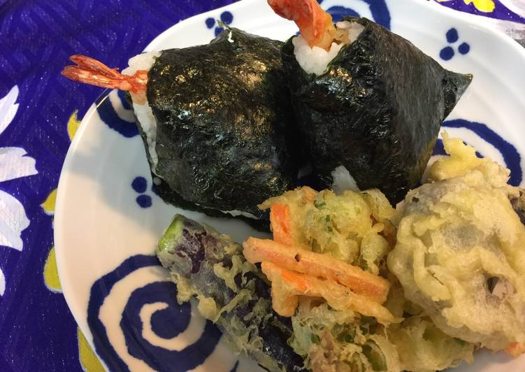 Shrimp Tempura Onigiri (Rice Ball)