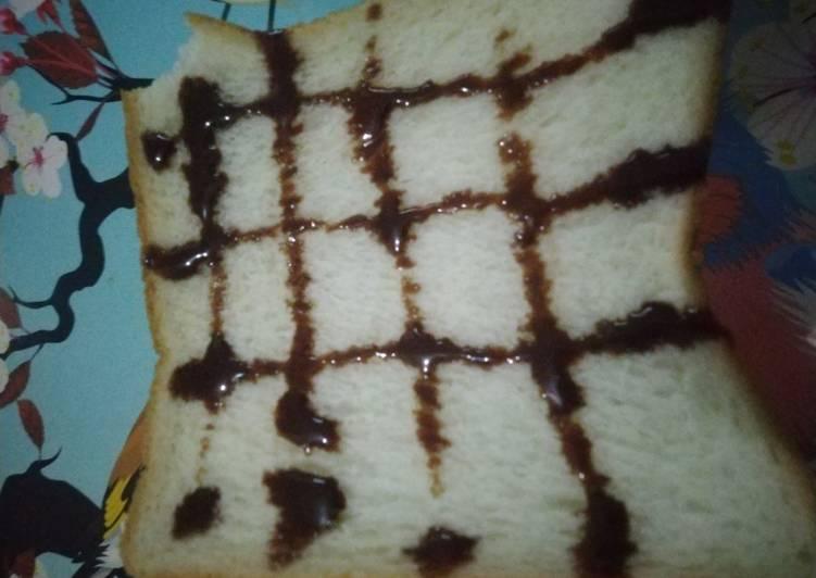 Cemilan roti polos 2 bahan