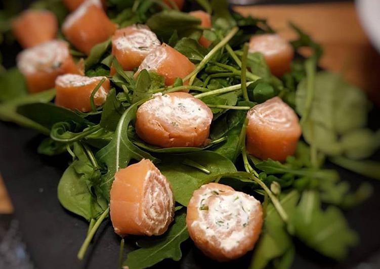 Recipe: Delicious Salmon Rolls