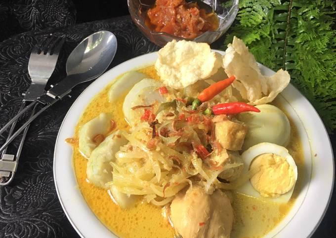 Resep Lontong sayur opor ayam oleh Nani Setiati - Cookpad