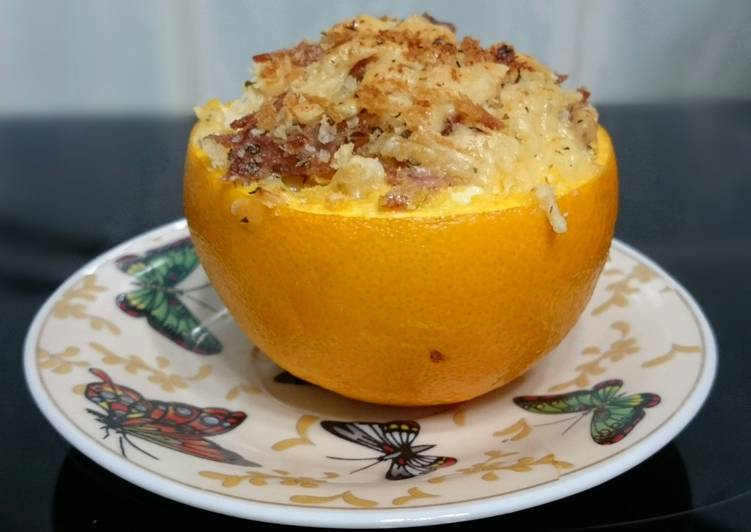 Baked Egg And Cheese In Orange