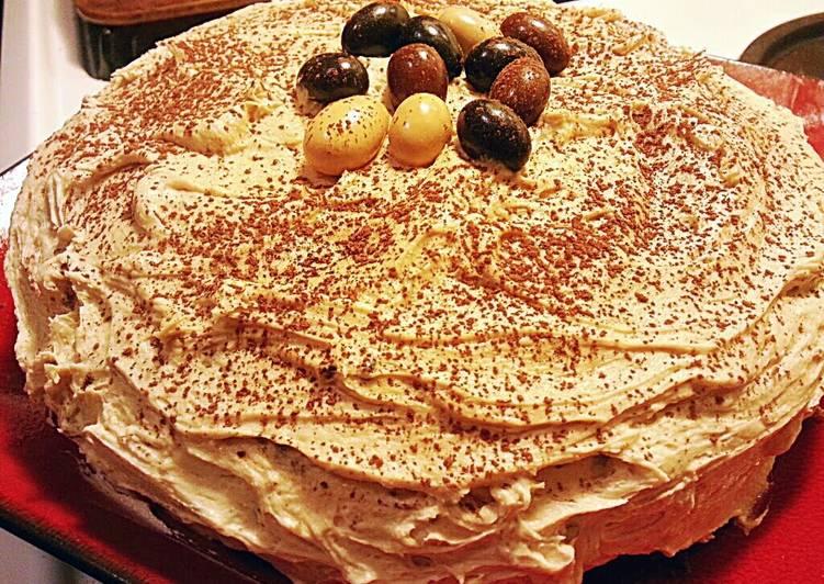 Mocha ButterCream~ Chocolate Pudding Espresso Cake ~