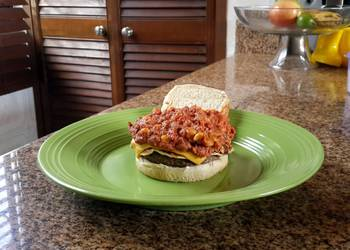 How to Cook Appetizing Beans and doble chesse burger