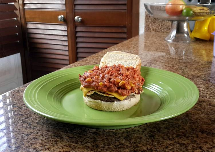 Beans and doble chesse burger
