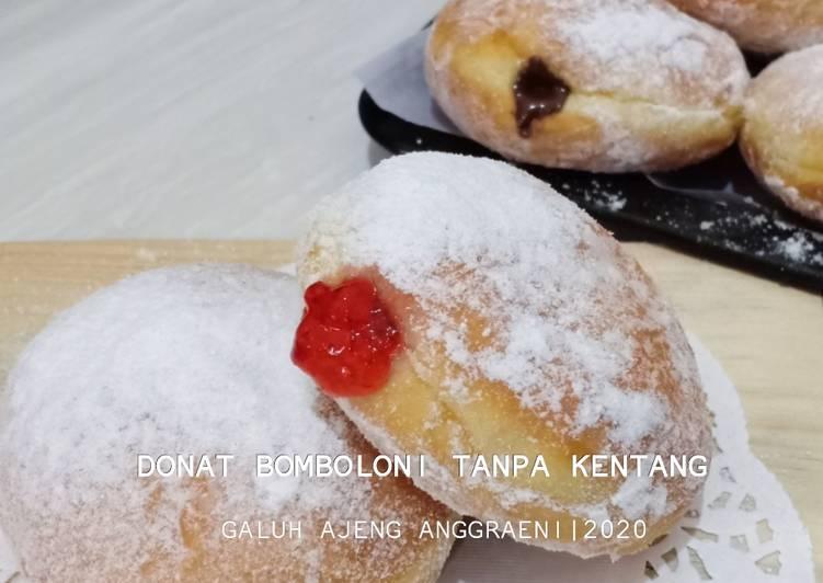 DONAT BOMBOLONI TANPA KENTANG (TAKARAN SENDOK)
