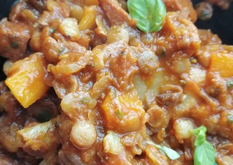 How to Prepare Ultimate Butternut squash, lentil and chorizo casserole