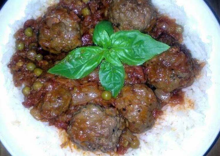 Recipe of Homemade Sig's crockpot meatballs with chorizo sauce