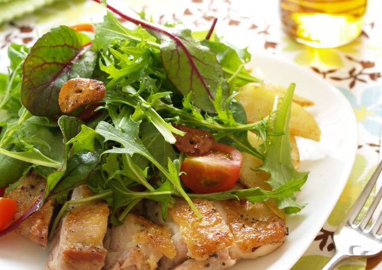 Sautéed Garlic Chicken Salad