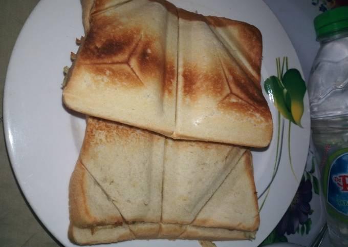 Toasted corned beef bread #teamabuja