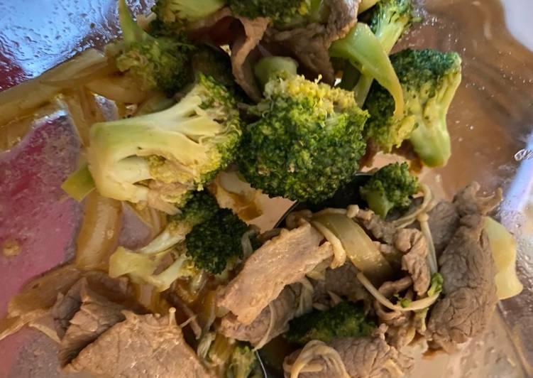 Tumis Daging Brokoli Enoki