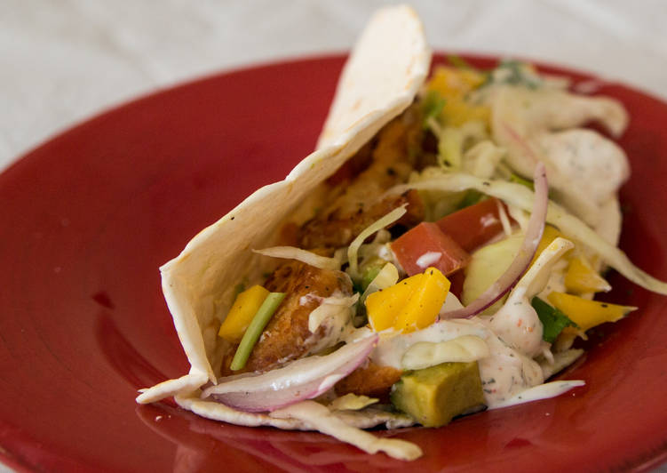 Simple Way to Make Favorite Fish Tacos & Slaw with White Sauce