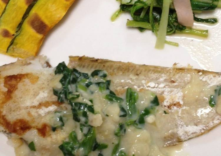 How to Prepare Award-winning Tonguefish Meunière with Spinach Sauce