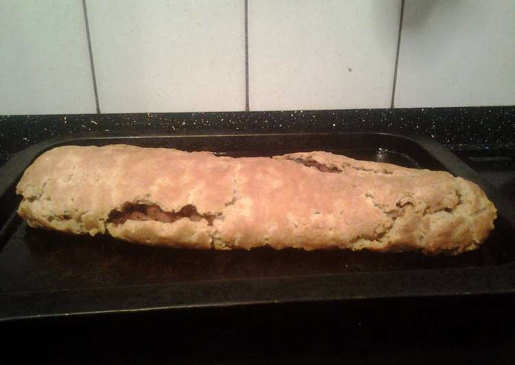 Recipe of Super Quick Homemade Baked bacon and onion roly poly