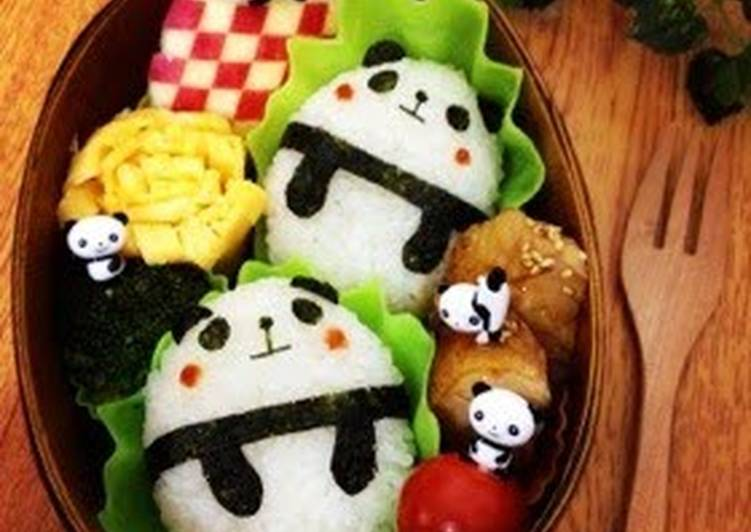 Roly Poly & Simple Panda Character Bento