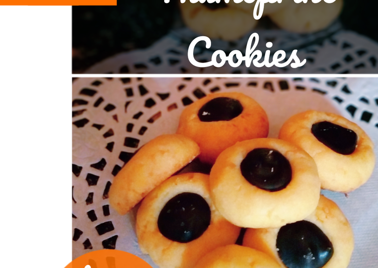 Chocolate Thumbprint Cookies / kuker coklat