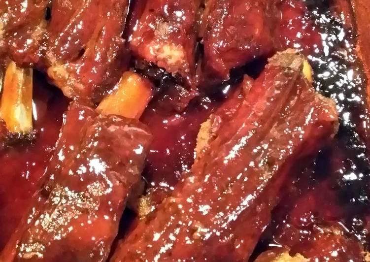Baked Bar-B-Q ribs