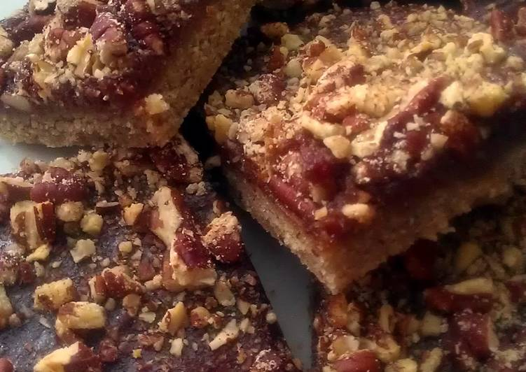 Recipe: Delicious Vickys Pecan Pie Bars, GF DF EF SF