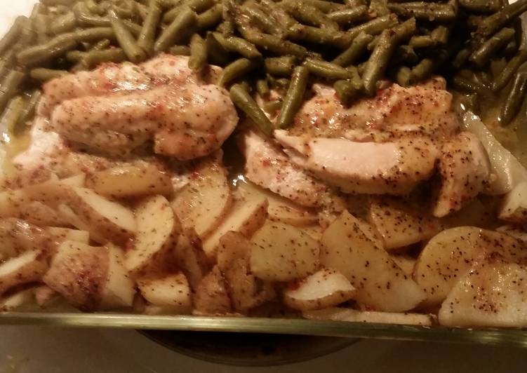 Italian Chicken, Green Beans, and Potatoes