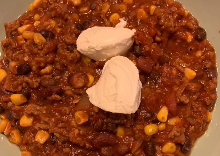 Chili con carne aus dem Slowcooker