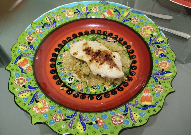 Easiest Way to Prepare Perfect Chargrilled Chicken & Lemon Pearl Barley