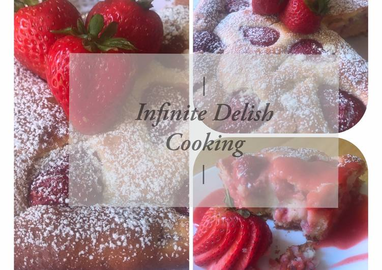 Recipe of Award-winning Strawberry cake with strawberry sauce