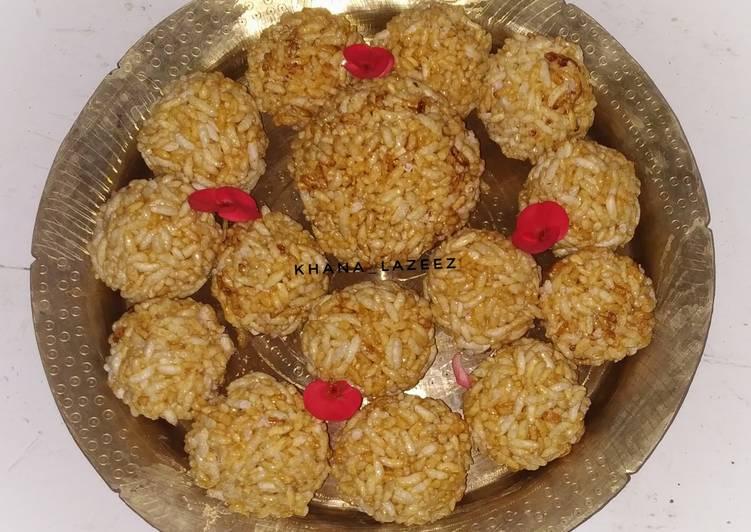 Recipe of Award-winning Moori or murmura ladoo or puffed rice balls