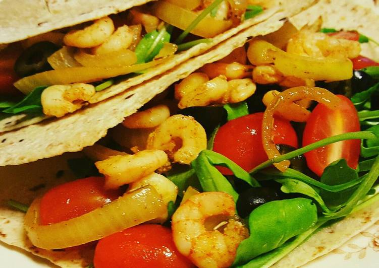 Easiest Way to Prepare Perfect Healthy shrimp wrap
