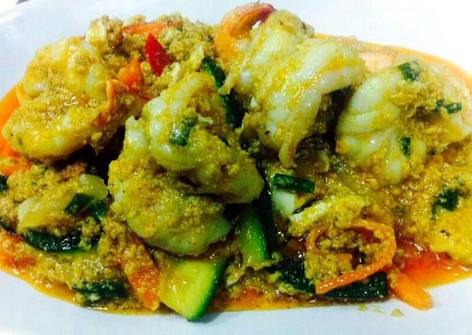 Kanya's Stir Fried Prawns with Curry Powder