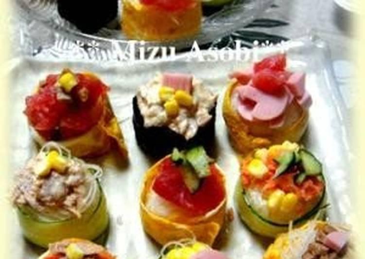 Easiest Way to Make Perfect Cheap, Easy and Cute Temari Sushi