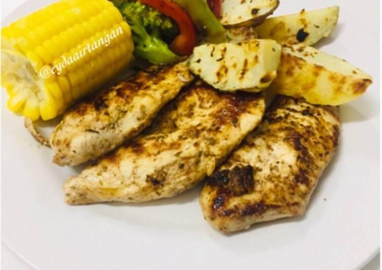 Grilled Chicken Breast #MunahMasak