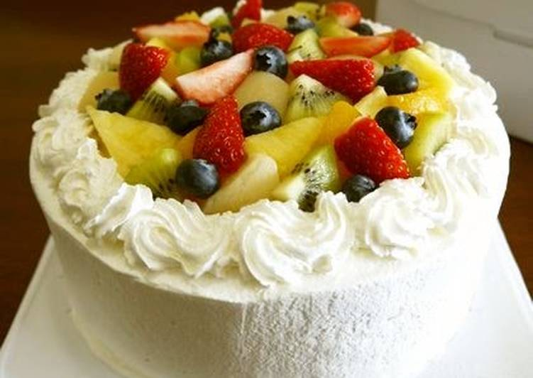 Easy! Fruit Decorated Cake