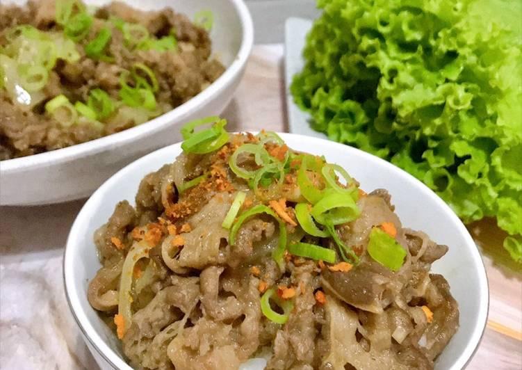 Gyudon/Beef Bowl ala Yoshinoya
