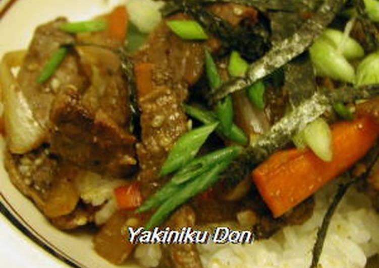 Simple Way to Make Any-night-of-the-week Yakiniku Rice Bowl