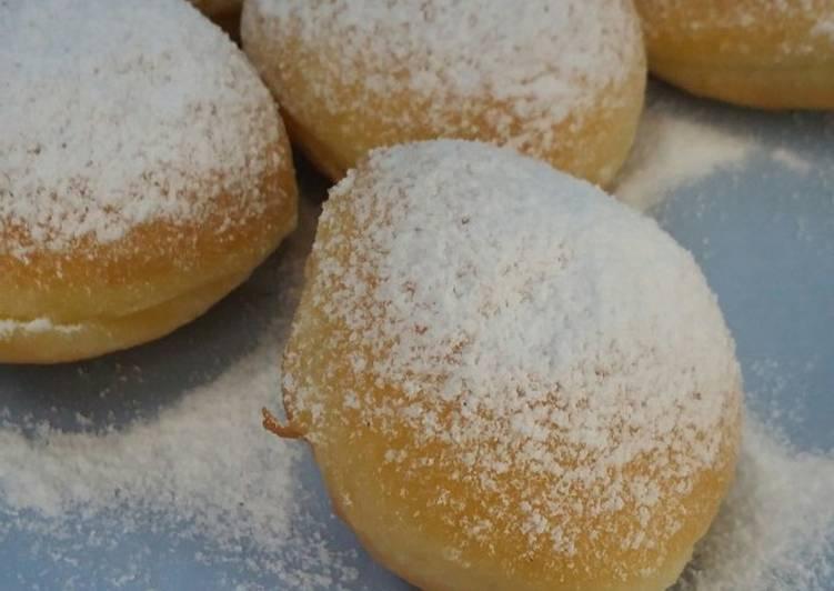 Bomboloni kosongan gula bubuk