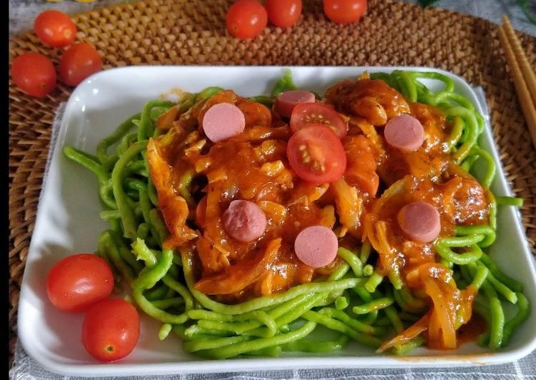Spaghetti Bayam Bolognese