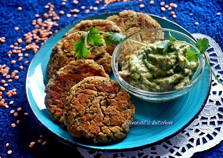 Irish red lentil  baked patties with guacamole, Some Foods That Benefit Your Heart
