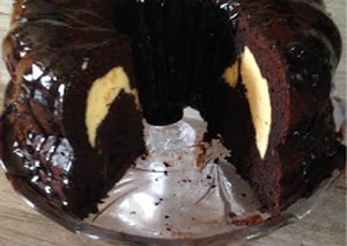 Cheese cake filled chocolate bundt cake!