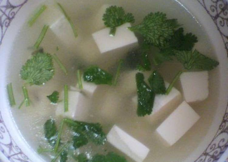 How to Make Ultimate Authentic Chinese Cilantro Tofu Soup