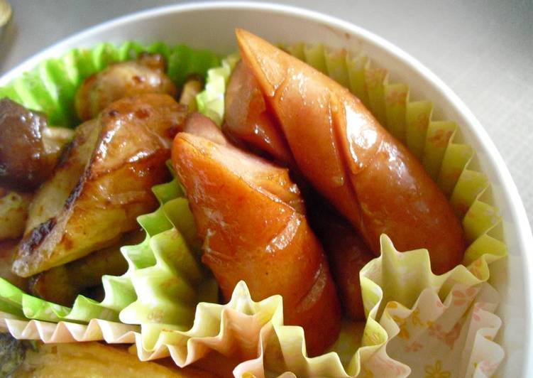 Recipe of Favorite Spicy Japanese-Flavored Wiener Sausages with Wasabi Soy Sauce